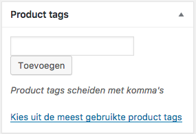 product tags productpagina