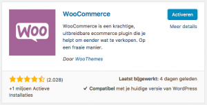 woocommerce installeren activeren