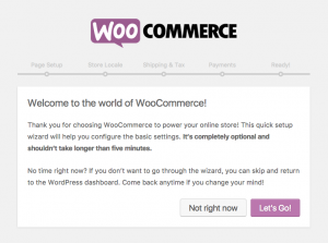 woocommerce installeren welkom